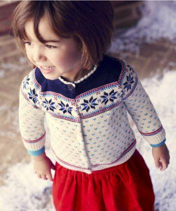The cutest Fair Isle cardigan by Little Bird at Mothercare