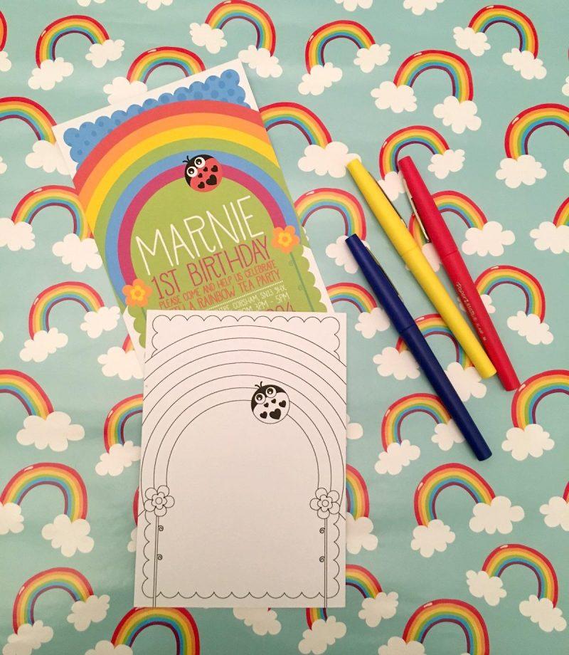 mamasVIB | V. I. BIRTHDAY: Personalised Birthday Stationary from Orange Paper Duck, first birthday invitations| rainbow tea party | V. I. BIRTHDAY| Personalised Stationary | mama'sVIB |Orange paper duck