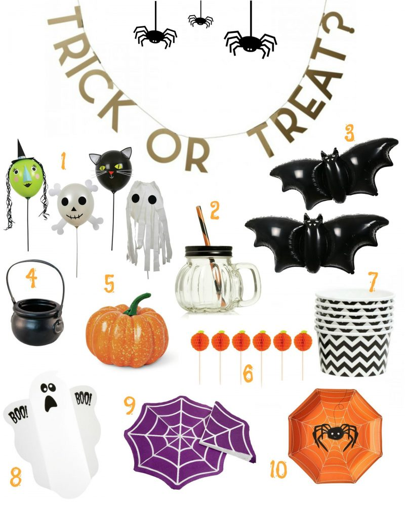 Cheap and cheerful kids halloween party buys to dress the table in a hurry