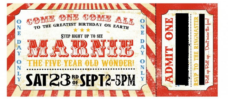 circus invitation, 5ht birthday, mamasvib, mamamonday, birthday invite