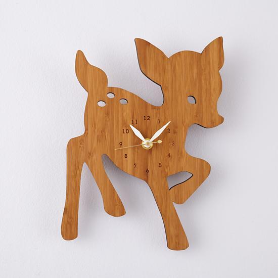 Time to hit the Land of Nod with the cutest baby deer wall clock