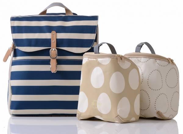 pacapod Hastings in navy strips, baby bag, mamasvib