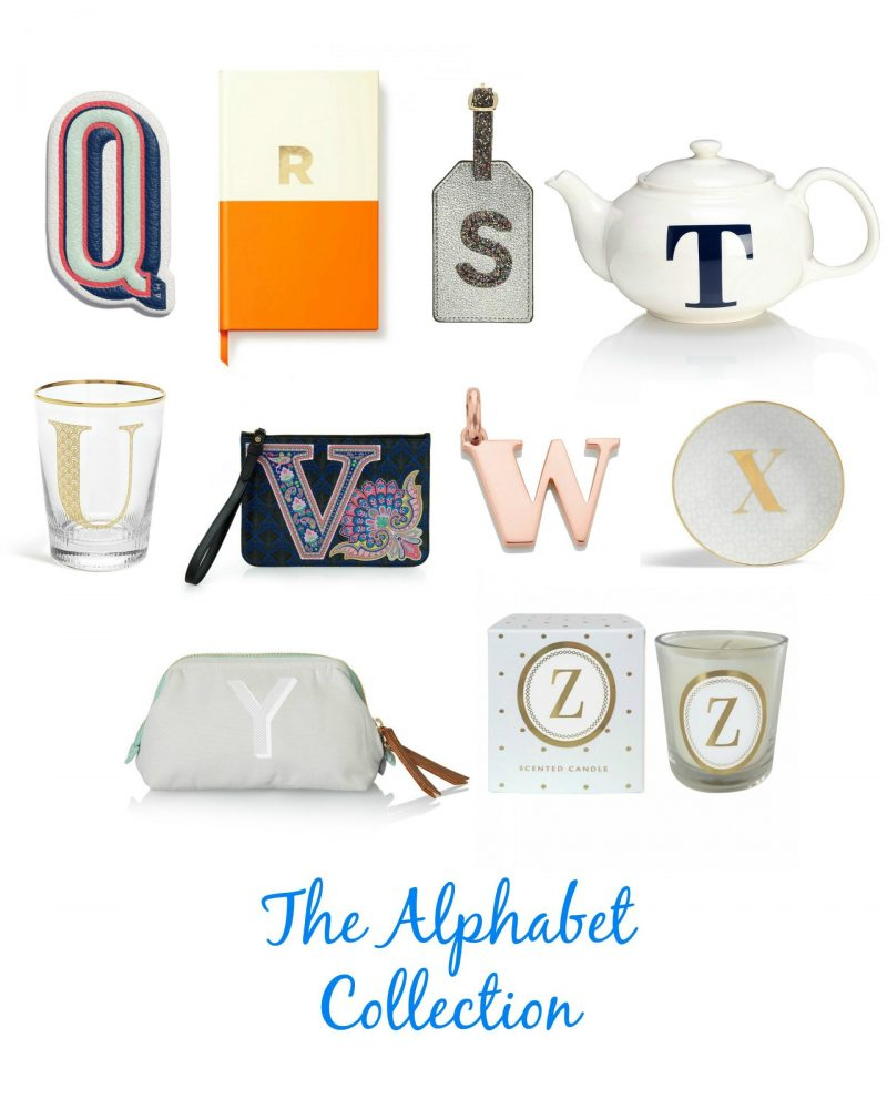 The Alphabet Collection - an A-Z of initial Christmas gifts ideas, initial gifts, mamasvib