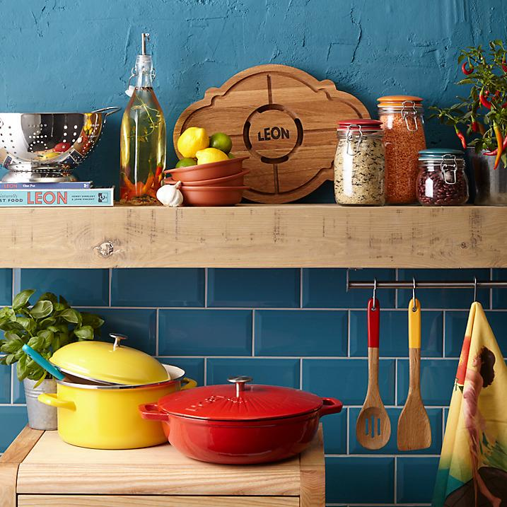 Bring the spirit of your favourite restaurant home for Christmas, Leon Cookware at John Lewis, restaurant style at home