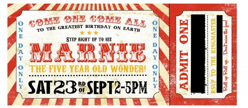 circus invitation, 5ht birthday, mamasvib, mamamonday, birthday invite